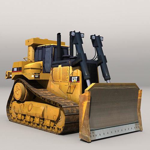 bulldozer 20217 3d model low-poly max obj mtl fbx 1