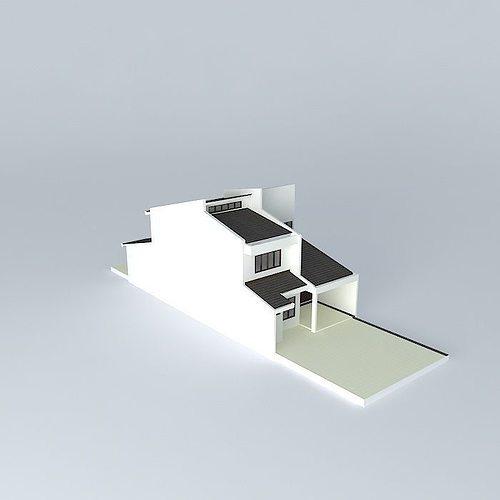 Terrace House 3d Model Max Obj 3ds Fbx Stl Dae 1
