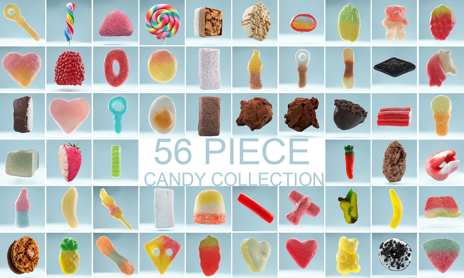 56 Piece Candy Collection