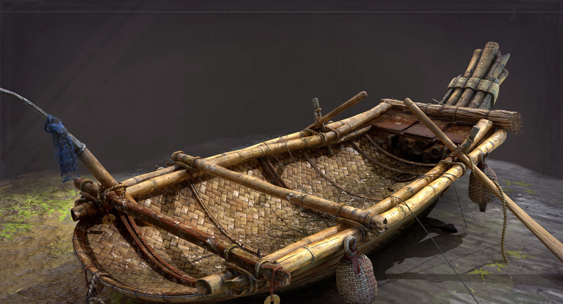 Real time era game fishing boat model