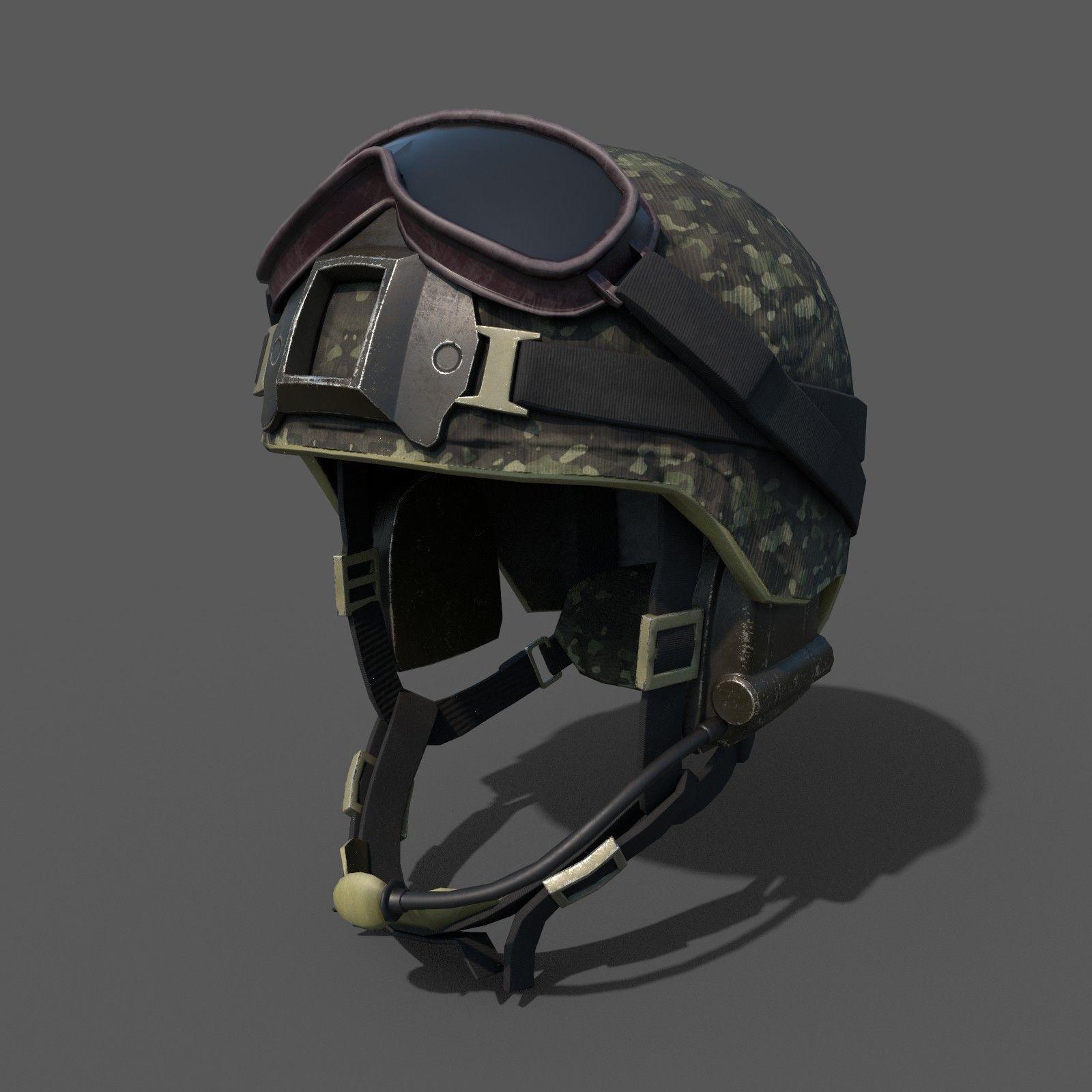 Scifi military helmet ver 2 | 3D model