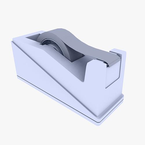 tape dispenser 3d model low poly cgtrader. Black Bedroom Furniture Sets. Home Design Ideas