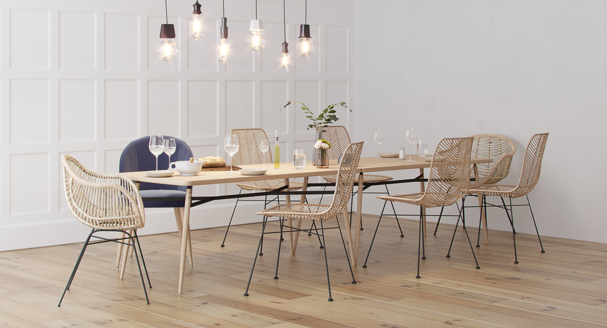 Scandinavian Style Interior Dining Table