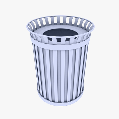 outdoor trash can vr ar lowpoly 3d model - Outdoor Trash Cans