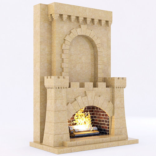 classical marble fireplace 4 3d model max obj 3ds fbx mtl 1