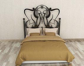 3D asset wrought iron bed