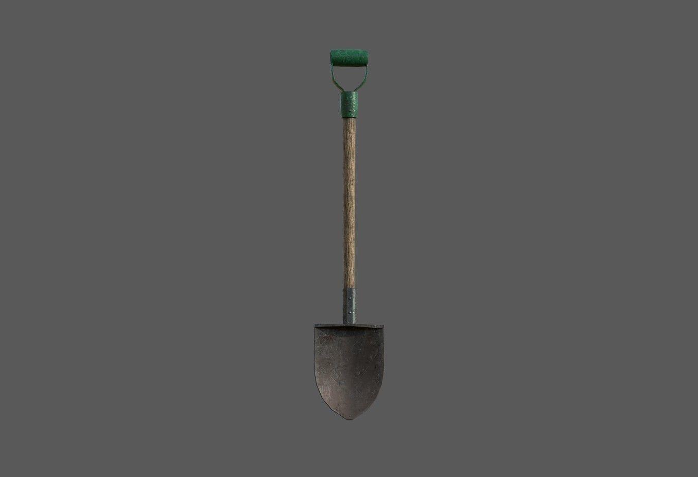 Old Wooden Shovel
