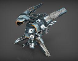 drone v4 cybertech 3d model realtime