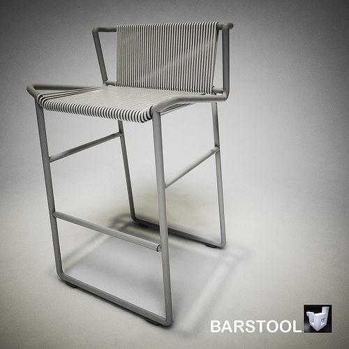 barstool c566tzs 3d model obj dae skp mtl 1