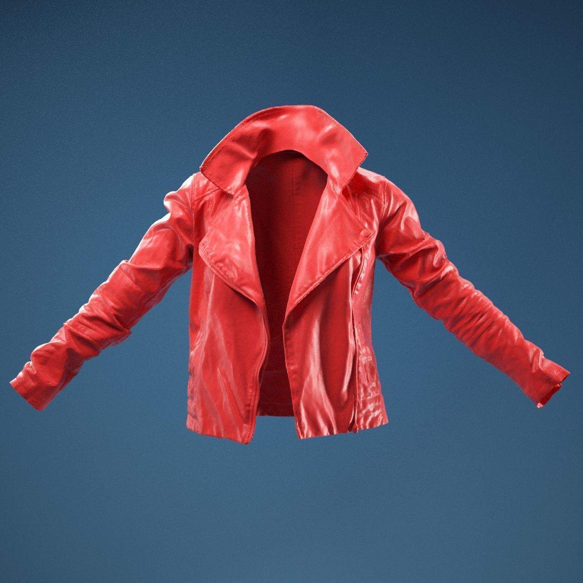Dark Brown Leather Jacket Open