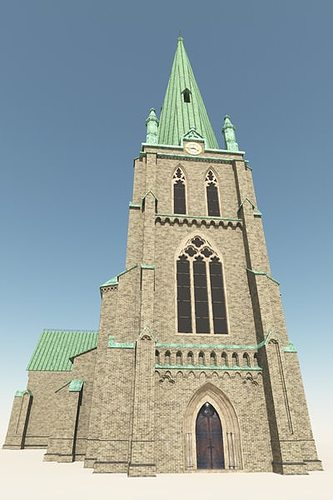 neo gothic church 3d model cgtrader. Black Bedroom Furniture Sets. Home Design Ideas