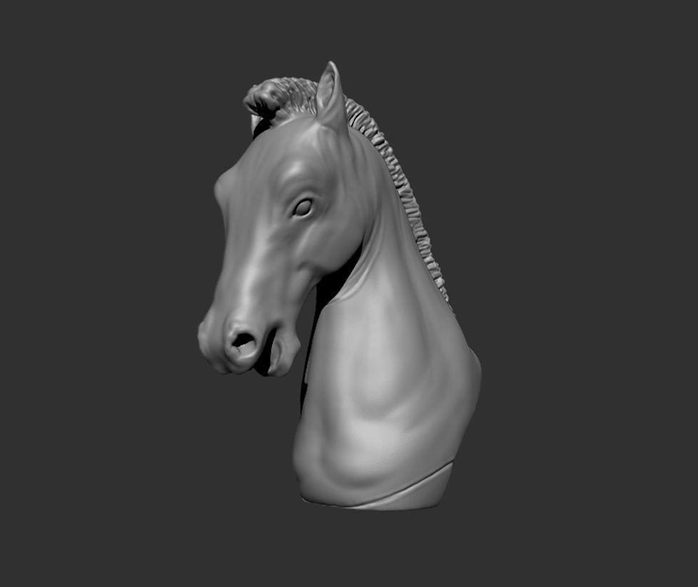 horse head decorative piece 3d print ready