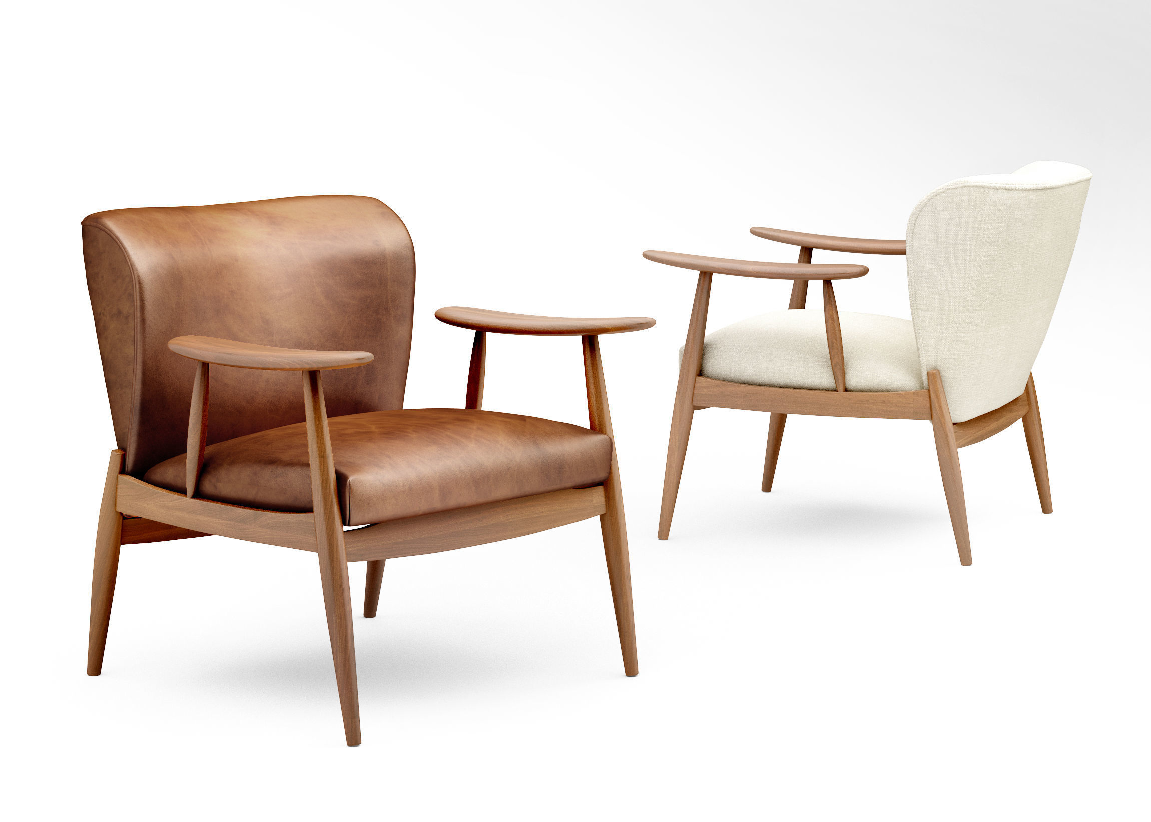 Abruzzo Brown Leather Tufted Chair + Reviews | CB2
