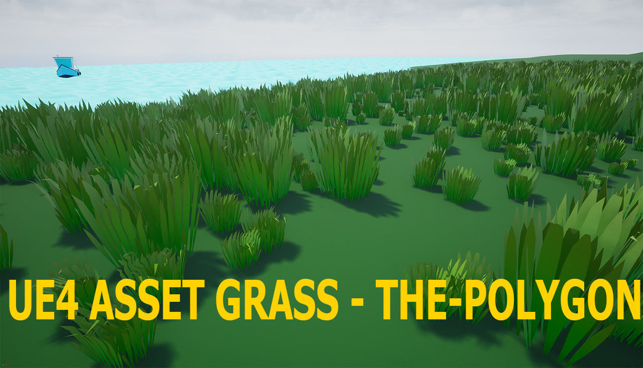 Low Poly grass Unreal Engine 4 asset | 3D model