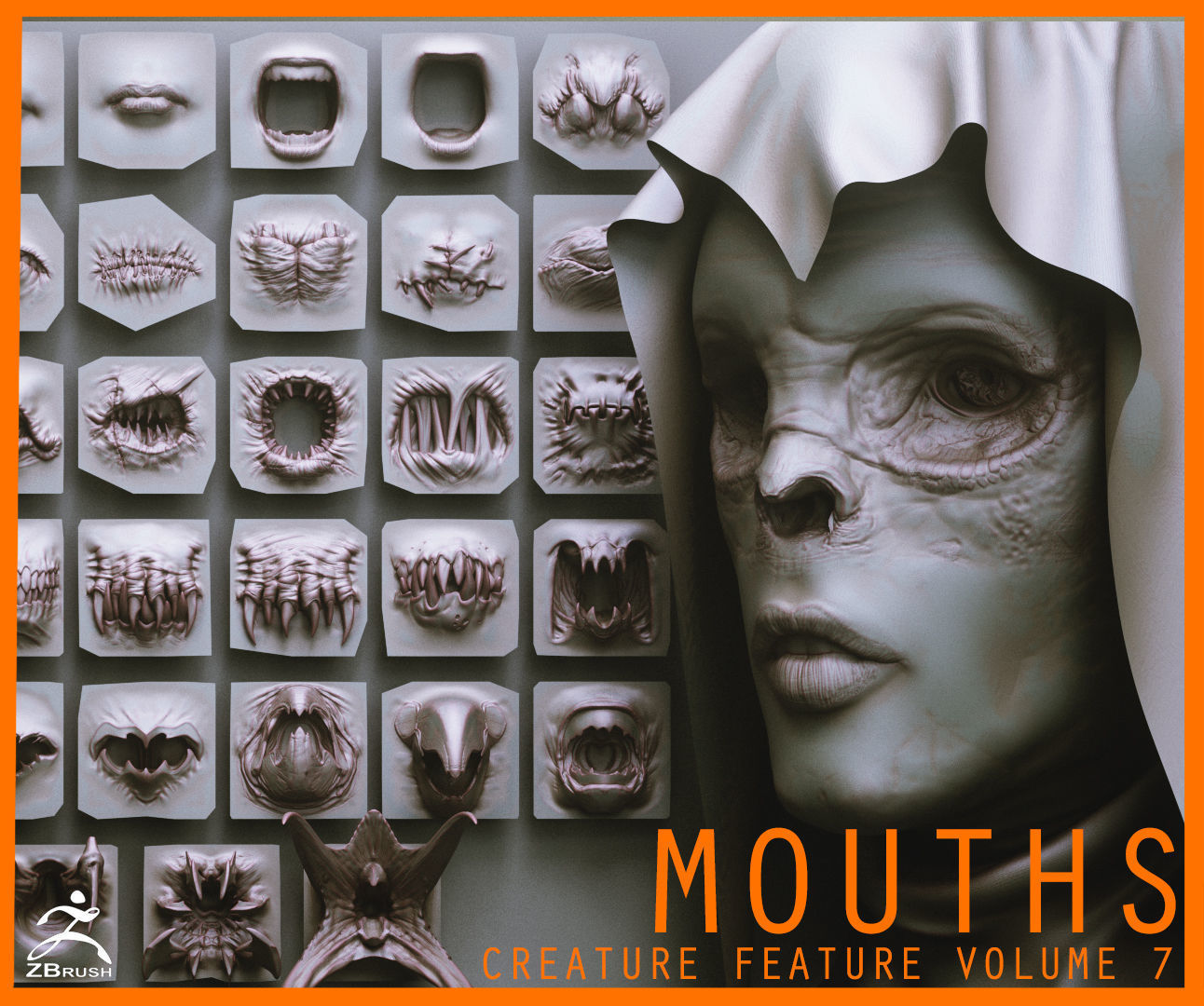 MOUTHS - 40 ZBrush VDMs and 5 bonus variations