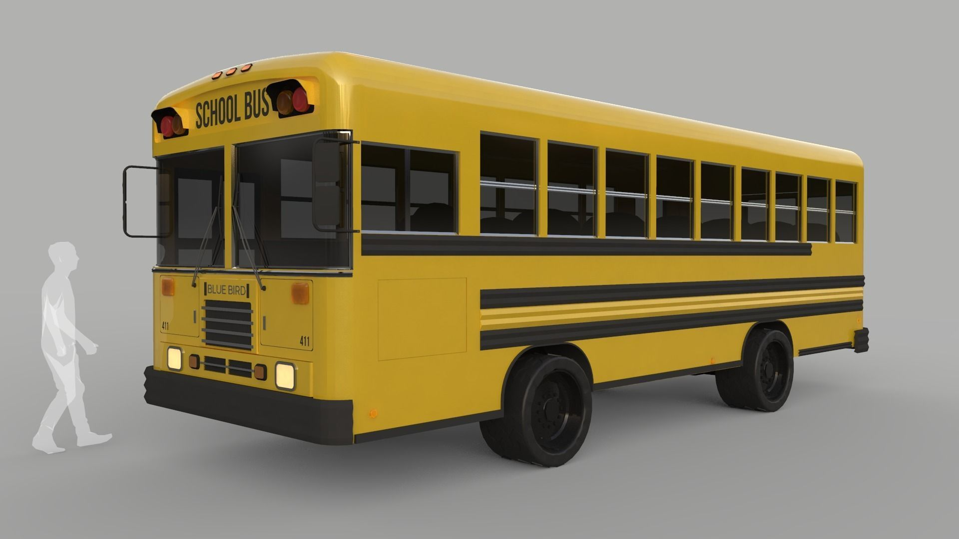 School Bus - Bluebird TC2000 Inspired | 3D model