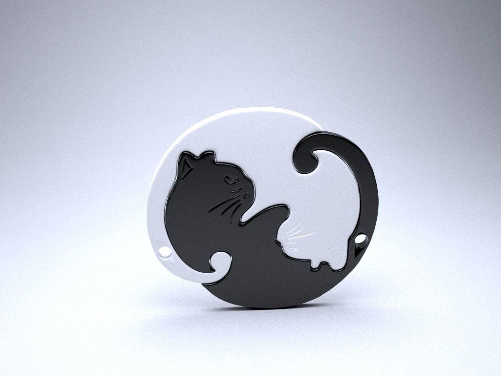 Yin-Yang Cat Pendant