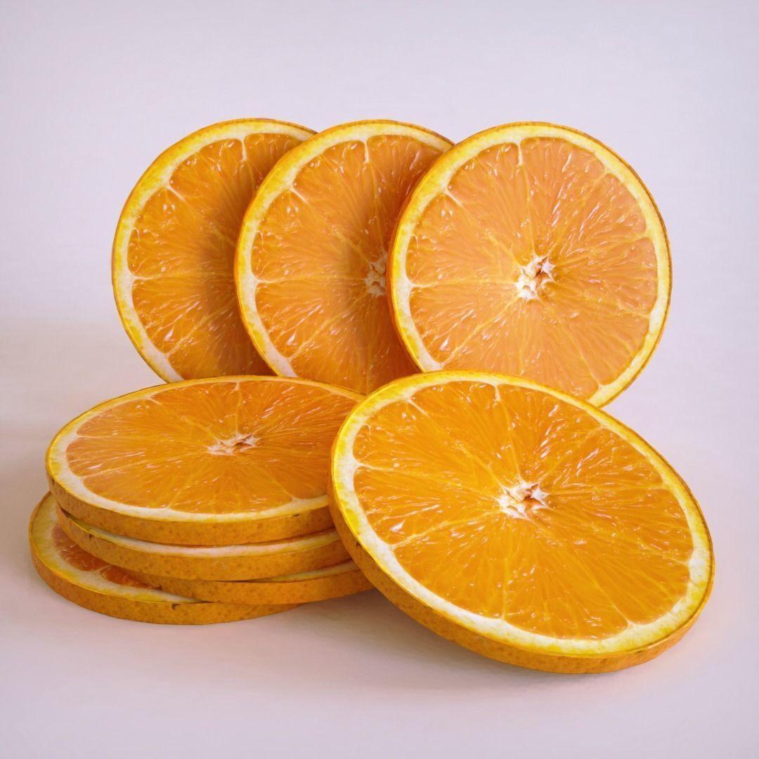 Orange slice cirlce