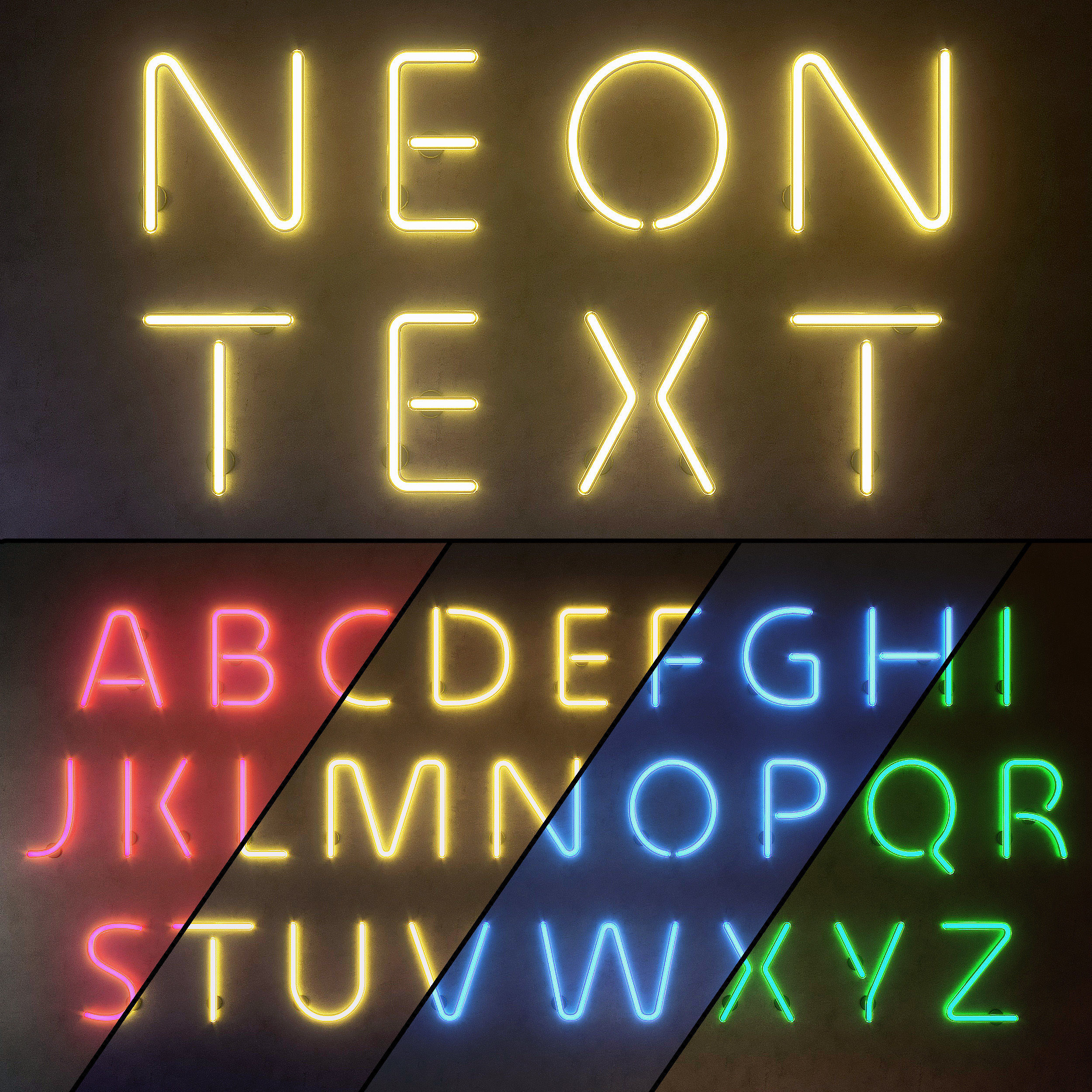 Light modules Set 10 Neon Alphabet