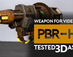 weapon gun radiation or acid PBR 3d model VR / AR ready