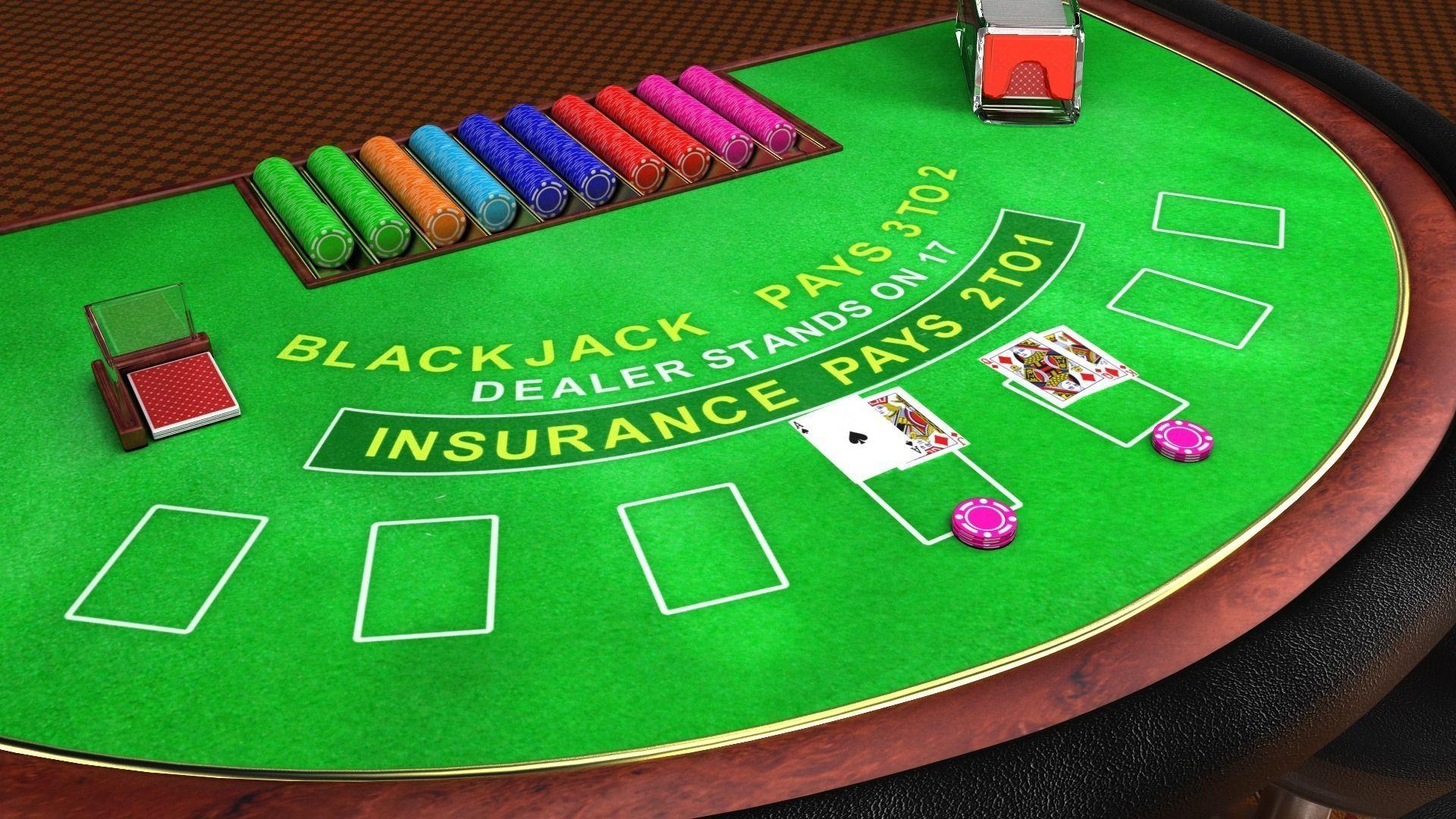 Blackjack table wallpaper - Professional Blackjack Table 3d Model Obj Fbx Ma Mb Blend Mtl 1