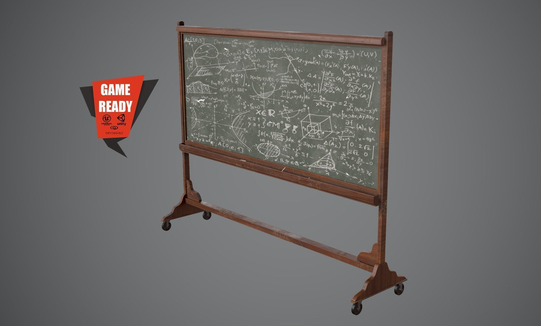 CHALKBOARD Game Ready Low Poly