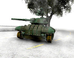 game-ready drone tank 3d asset animated