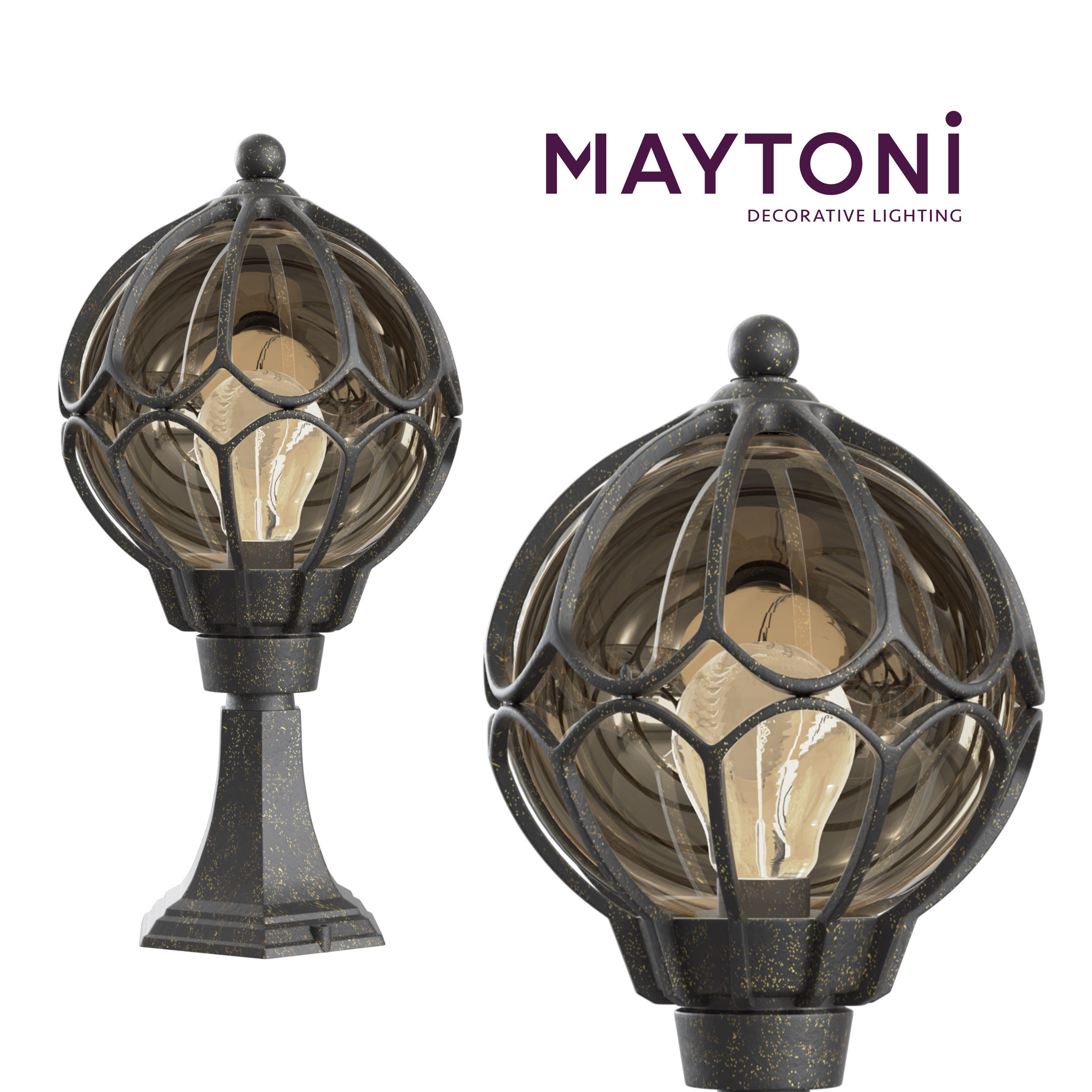 Garden Lamp 3d Model: 3D Model Wall Lamp Champs Elysees S110-45-01-R Maytoni