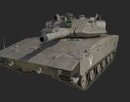 3D asset Merkava 4 Trophy