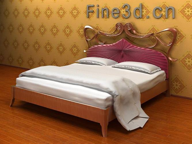 Cozy bed collection 3d model max obj 3ds for 3ds max bed model