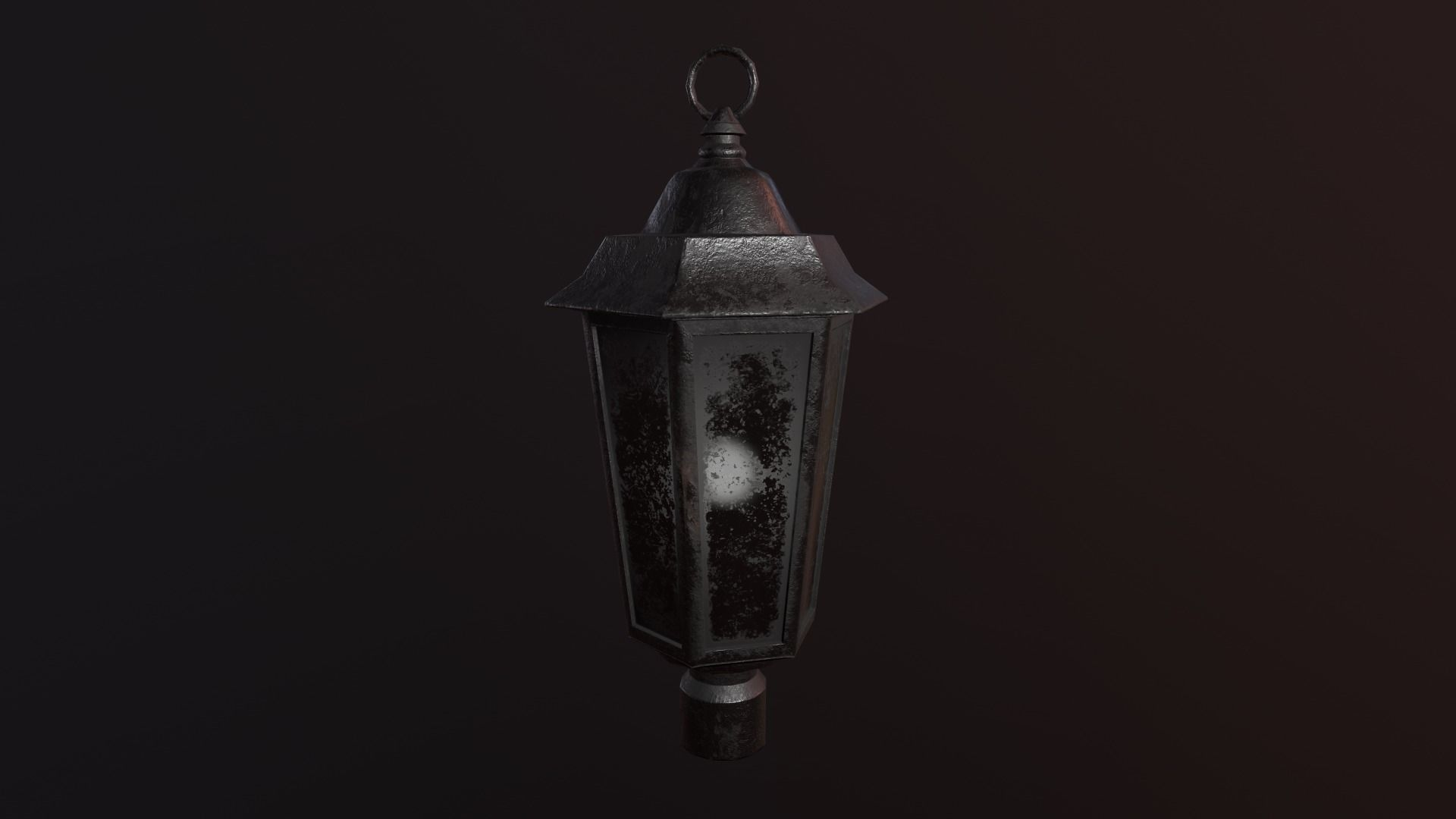 antique street lamps low-poly model
