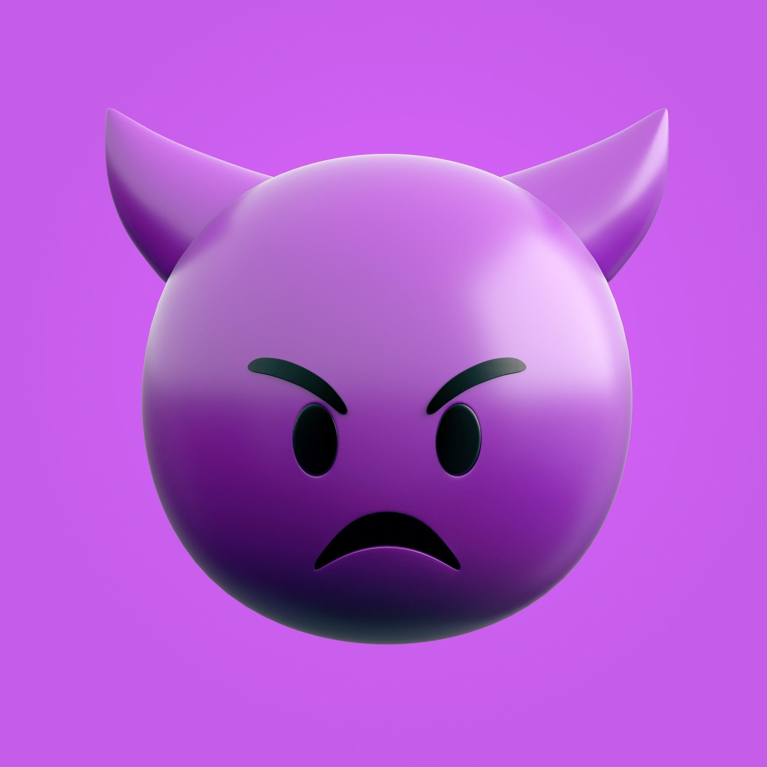 3D model Emoji Mean Devil | CGTrader