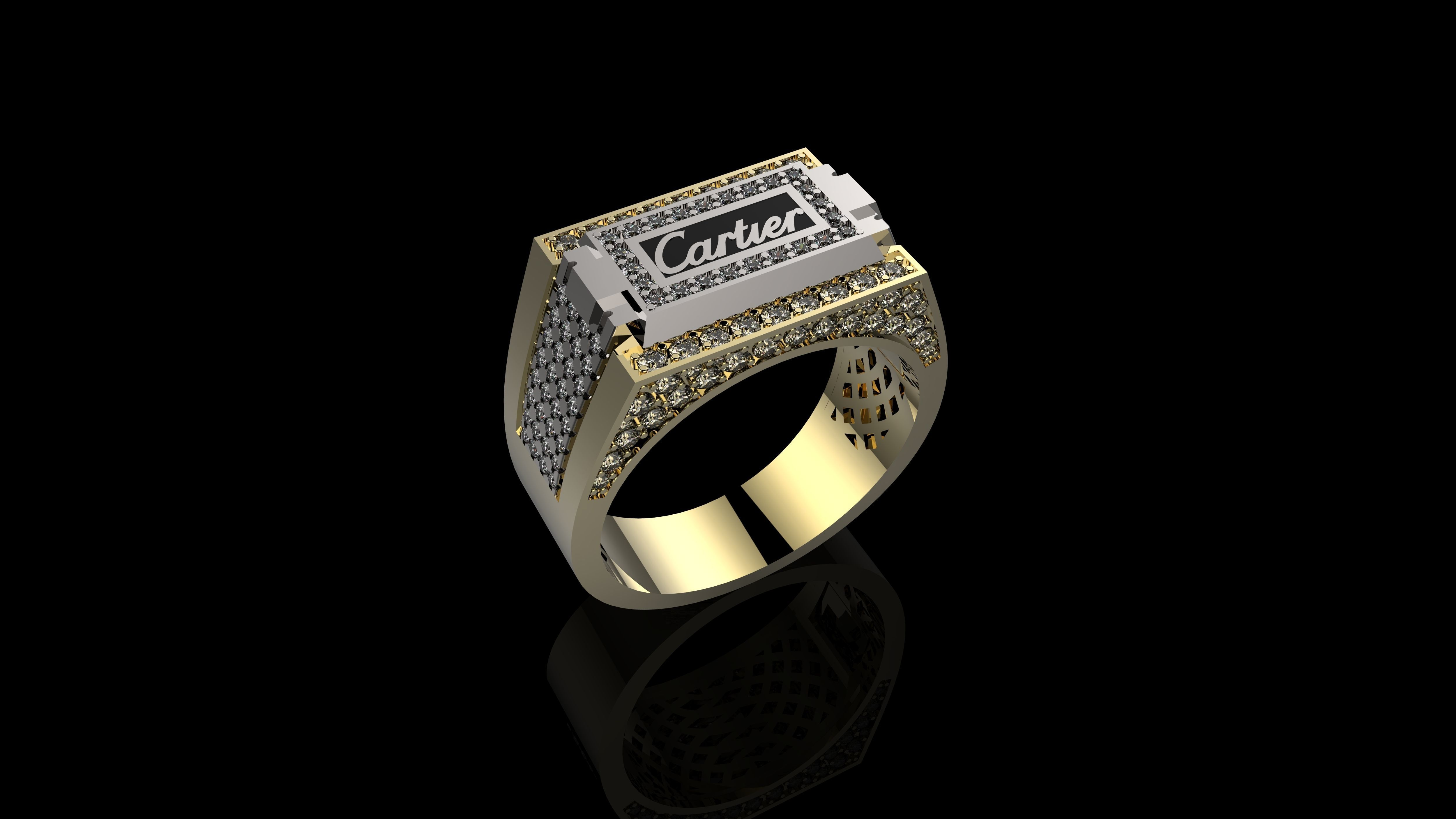 1d23978a97b62 M RINGS FOR MEN N17 2 3D printable model | CGTrader