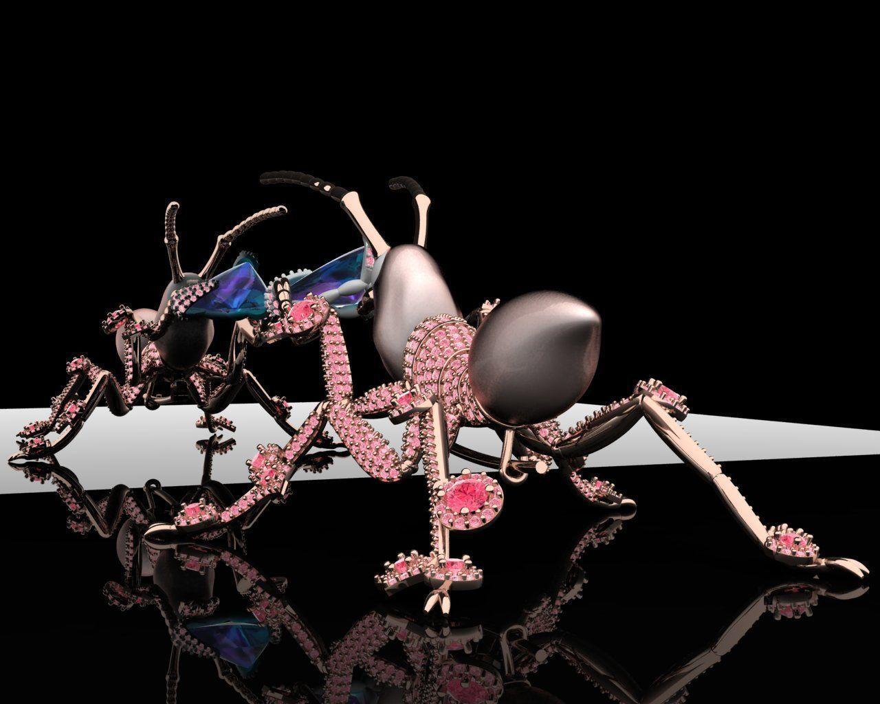 Ant Brooches 3D print model