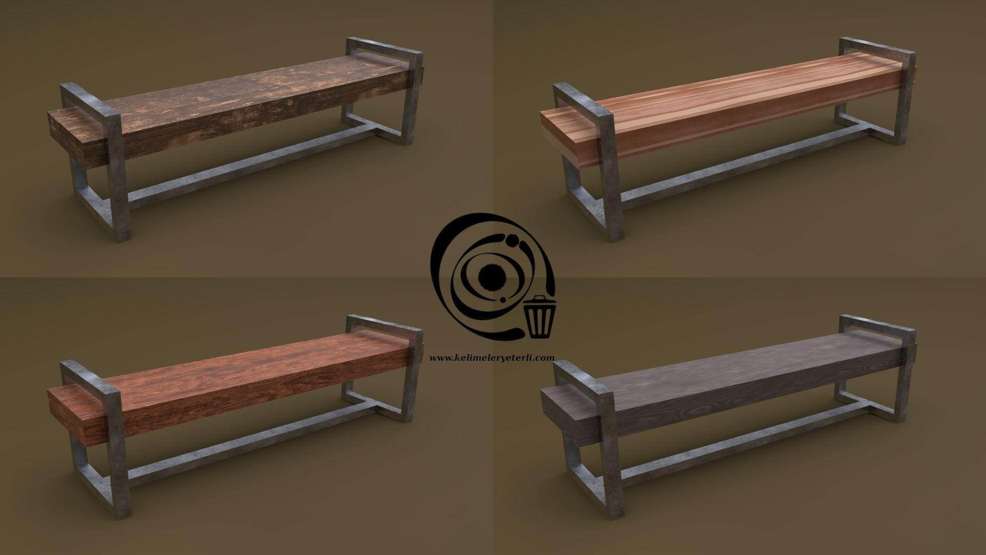 Bench 20 4in1 - 4 Texture 1 Model
