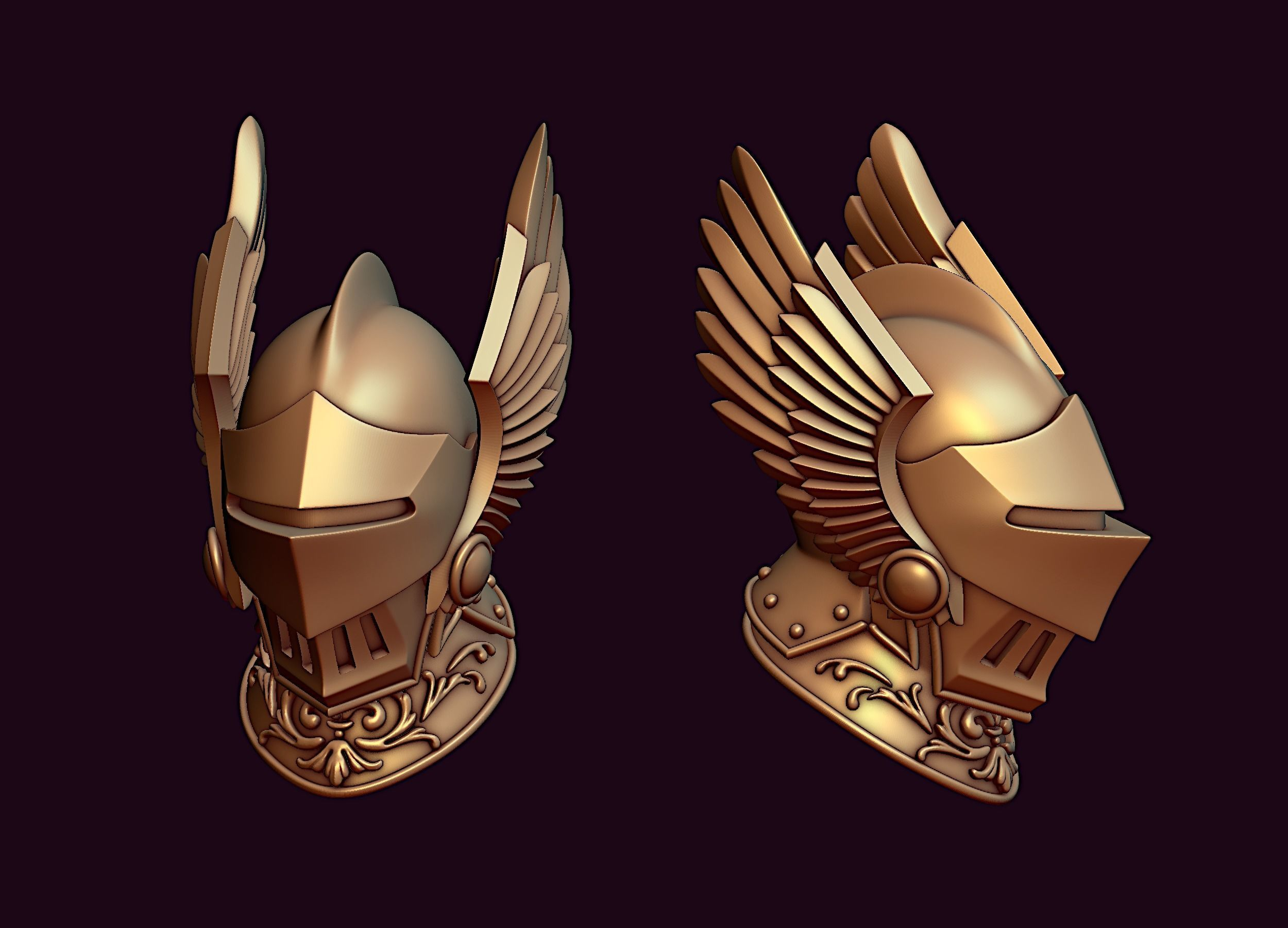 Knight winged helmet