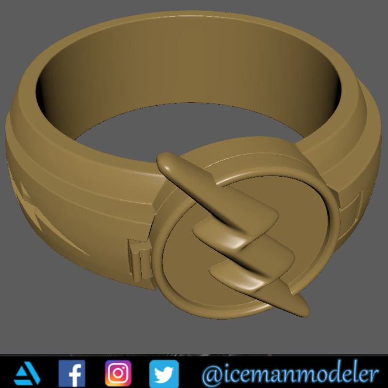 The Flash ring for 3d print