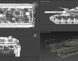 simple tank 3d model rigged stl