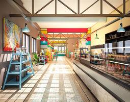 Cafe Interior 002 3D