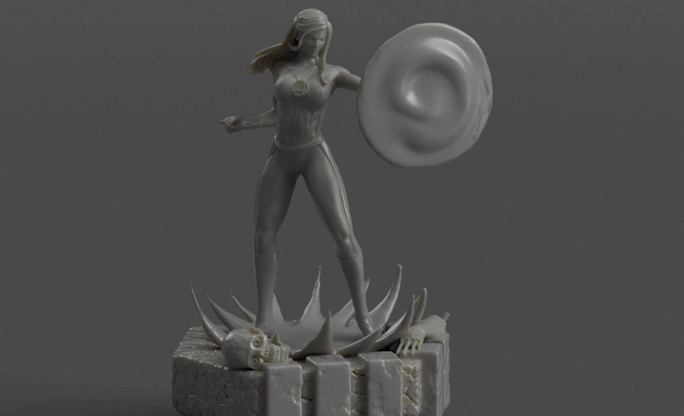Fantastic 4 Invisible Woman Sue by Davide Barbafrom discord | 3D Print Model