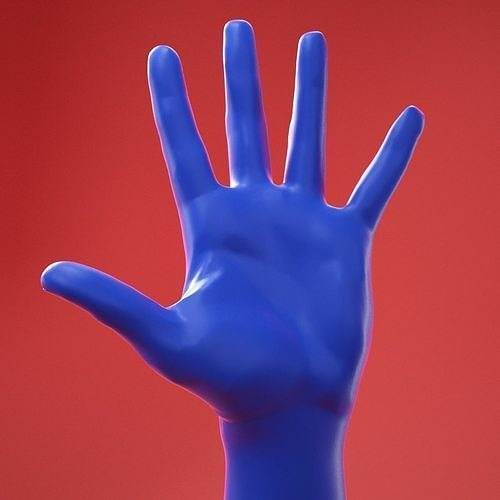 Male Hand 8 Neutral Pose