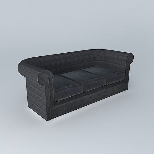 gray sofa chesterfield 3d model max obj mtl 3ds fbx stl dae 1