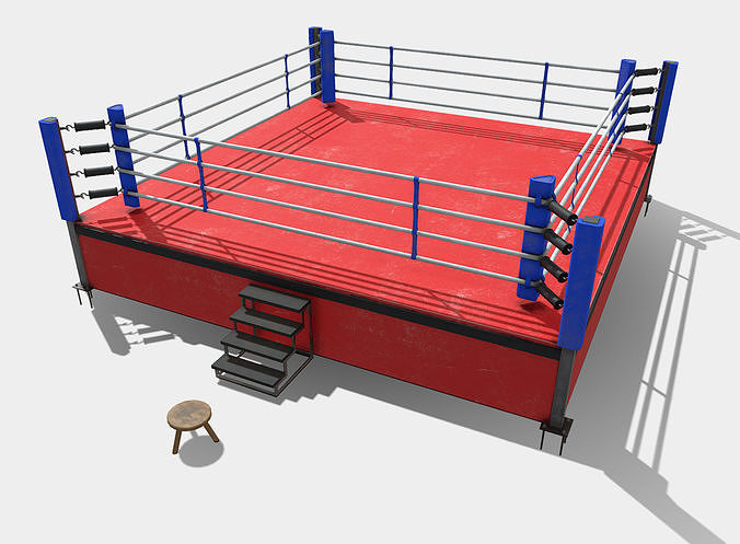 Low Poly PBR Boxing Ring