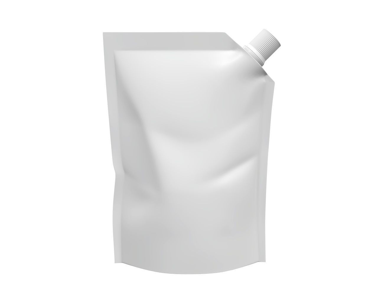 Blank Pouch Bag With Corner Spout Lid Mock Up 01