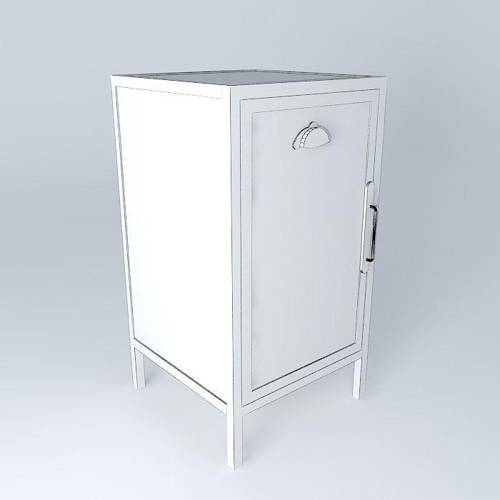 Vintage Cabinet 3d Model Max Obj 3ds Fbx Stl Dae 4