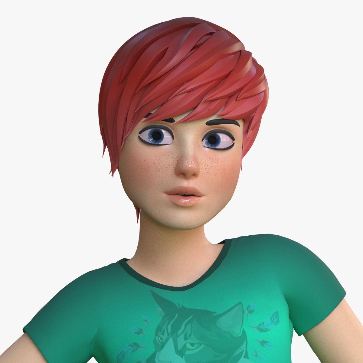 Teen Girl cartoon