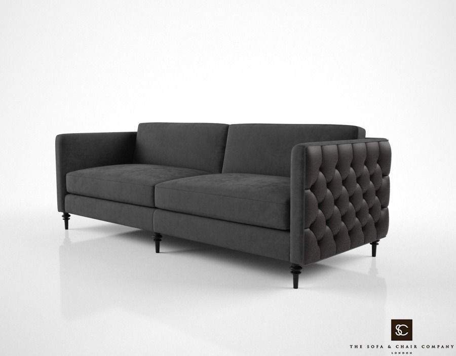Exceptionnel The Sofa And Chair Company Winston Sofa 3d Model Max Obj Fbx Mtl 1 ...
