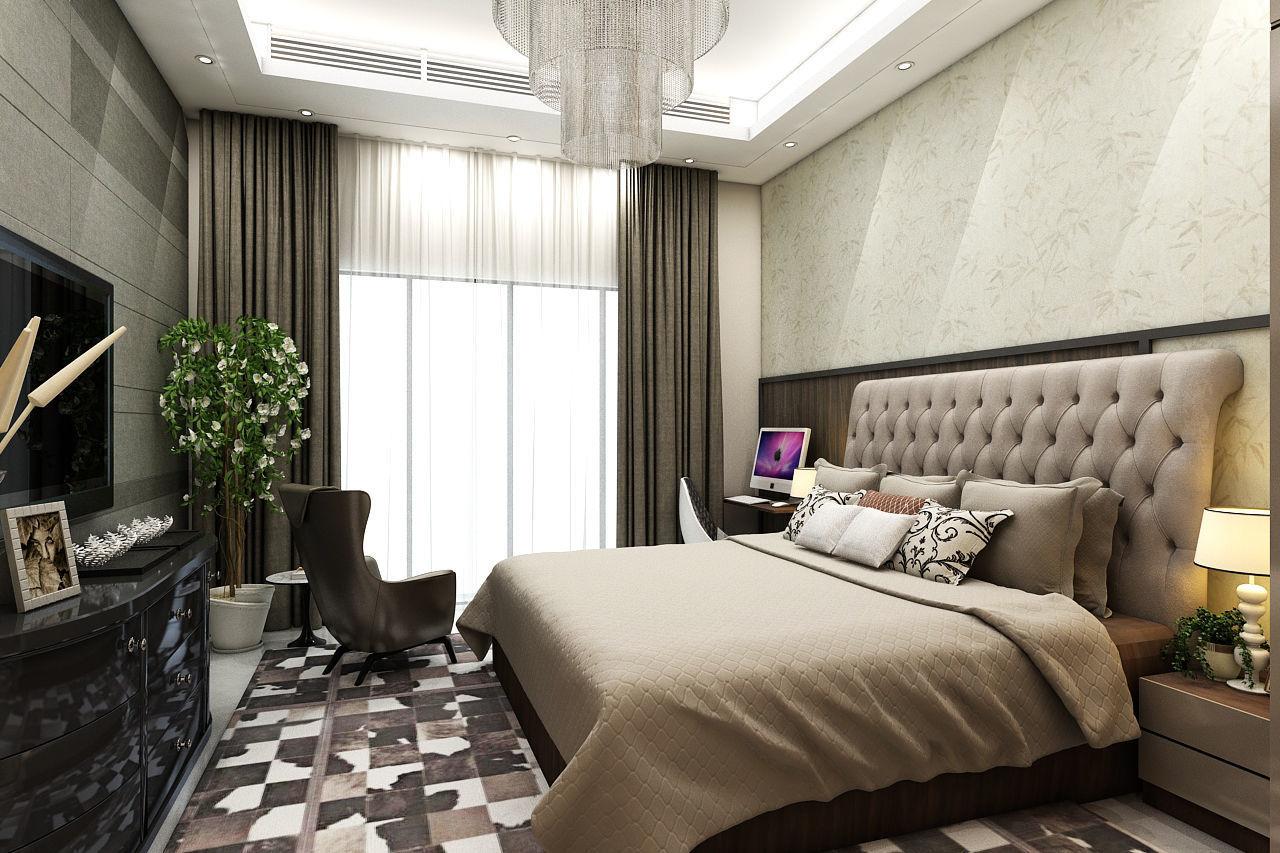 Spacious 3bhk Interior Design And Decoration 3d Model