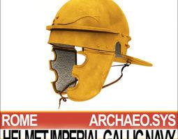 roman helmet imperial gallic navy 3d