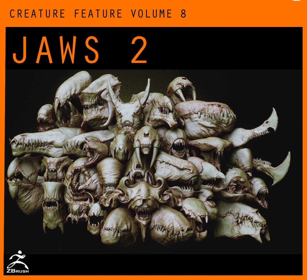 JAWS 2 - Another 33 Monster Mouths and Skulls IMM Brush